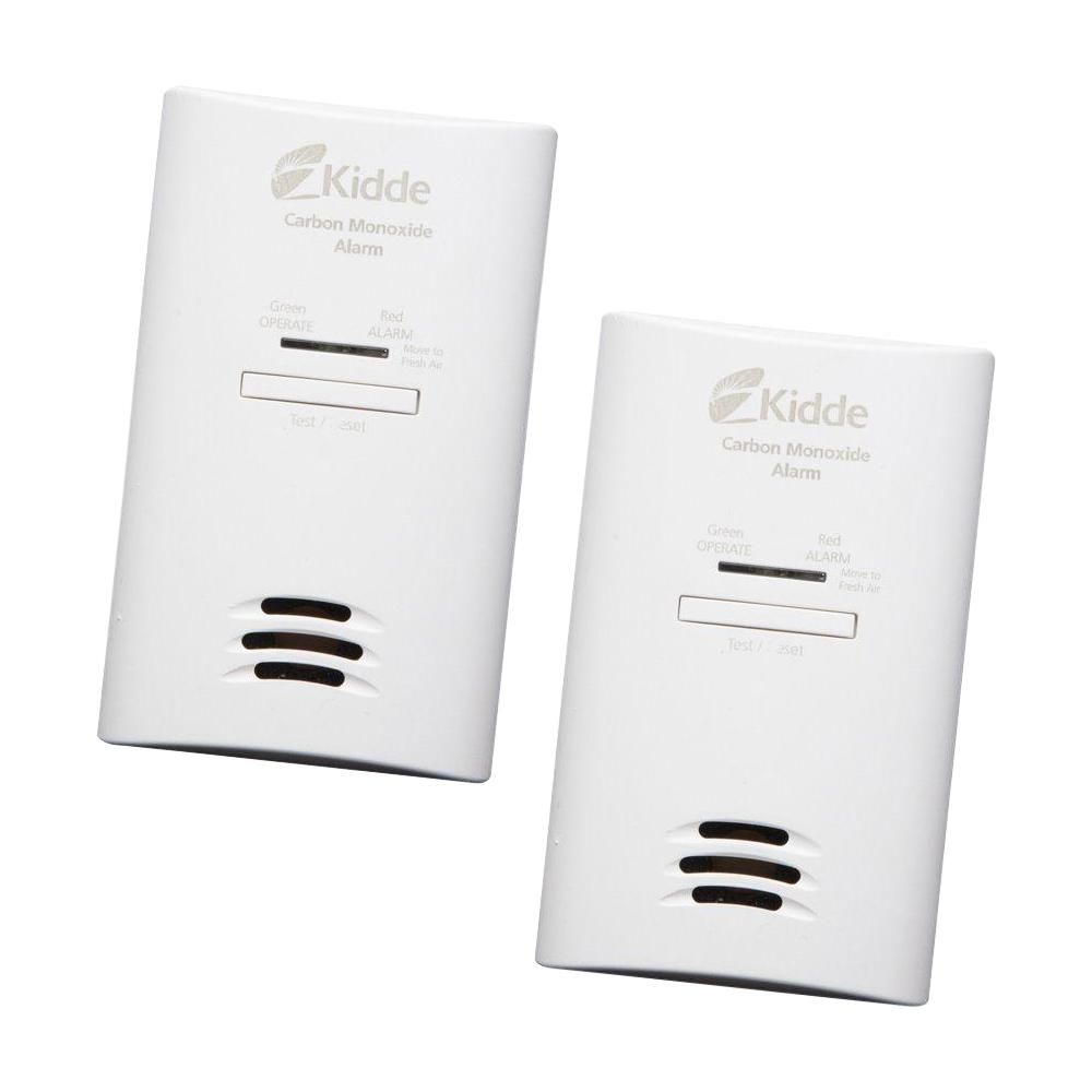 Kidde Plug-In Carbon Monoxide Detector with AA Battery Backup (2-pack)