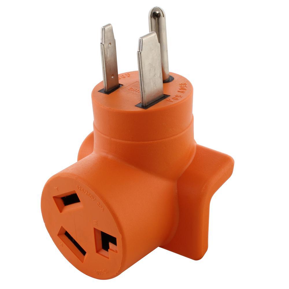 50 Amp Welder Outlet 6-50 Plug to 30 Amp 250-Volt 3-Prong Dryer 10-30 Dryer Adapter