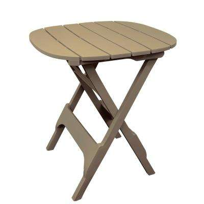 34 in. Quik-Fold Portobello Resin Plastic Outdoor Bistro Table