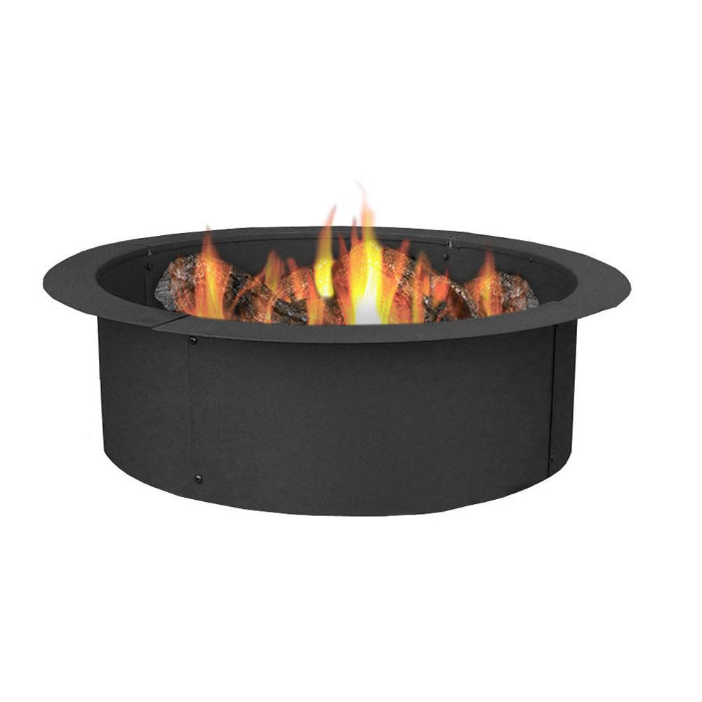Sunnydaze Decor 27 in. Round Steel Wood Burning Fire Pit Kit