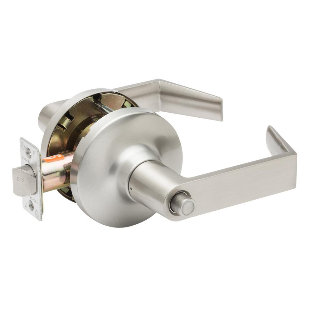 Grade 1 WFL Satin Stainless Cylindrical Privacy Bed/Bath Door Lever