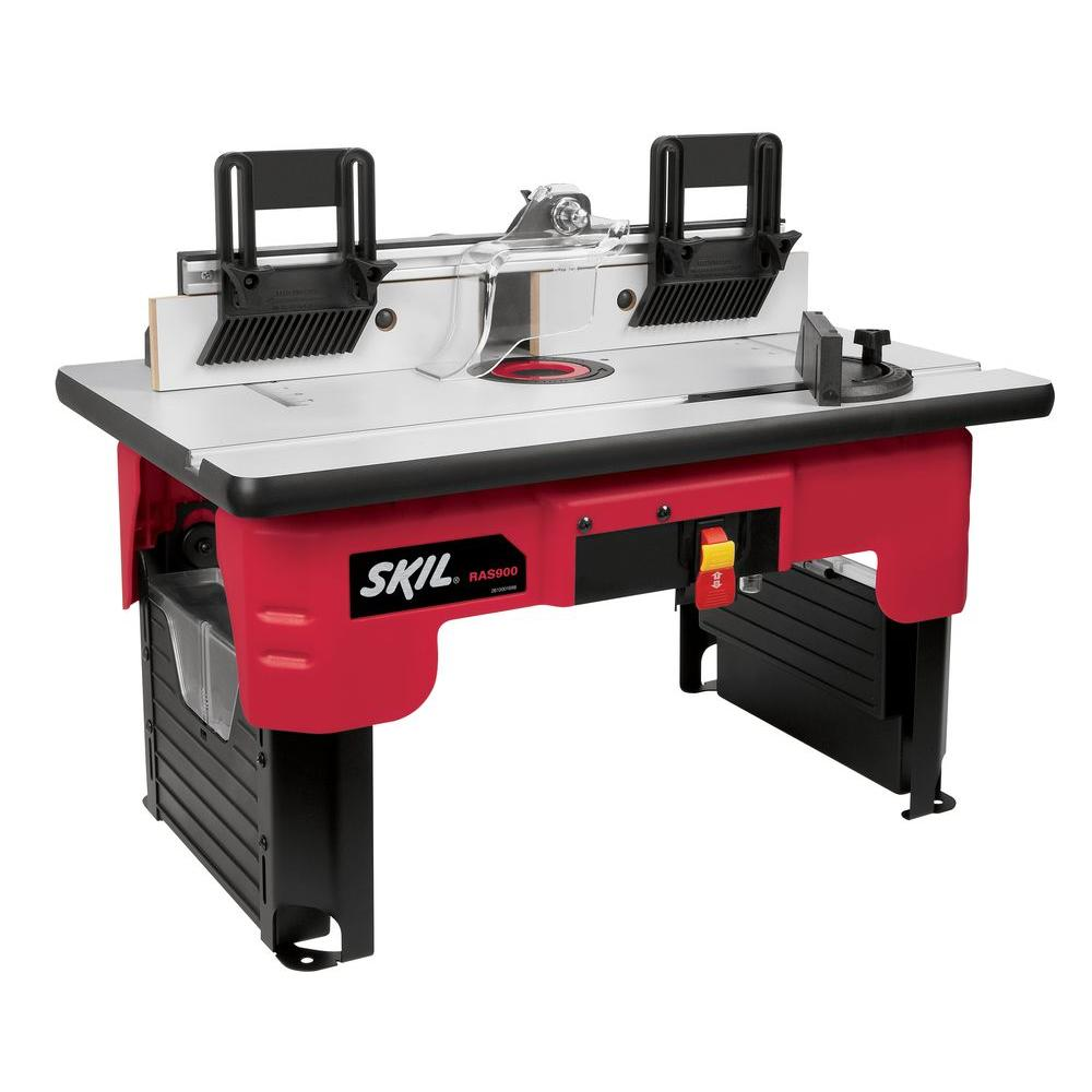 Skil Router Table With Folding Leg Design And Tall Fence Design