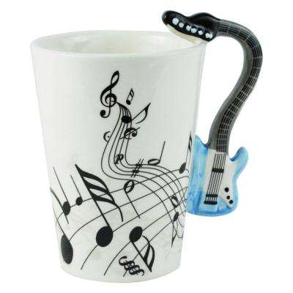 8 oz. Blue Electric Guitar Coffee Mug