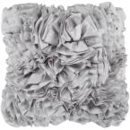 Uxbridge Grey Solid Polyester 18 in. x 18 in. Throw Pillow