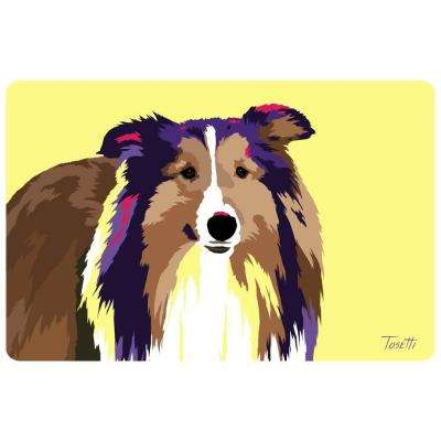 Printed Collie 39 17.5 in. x 26.5 in. Mat