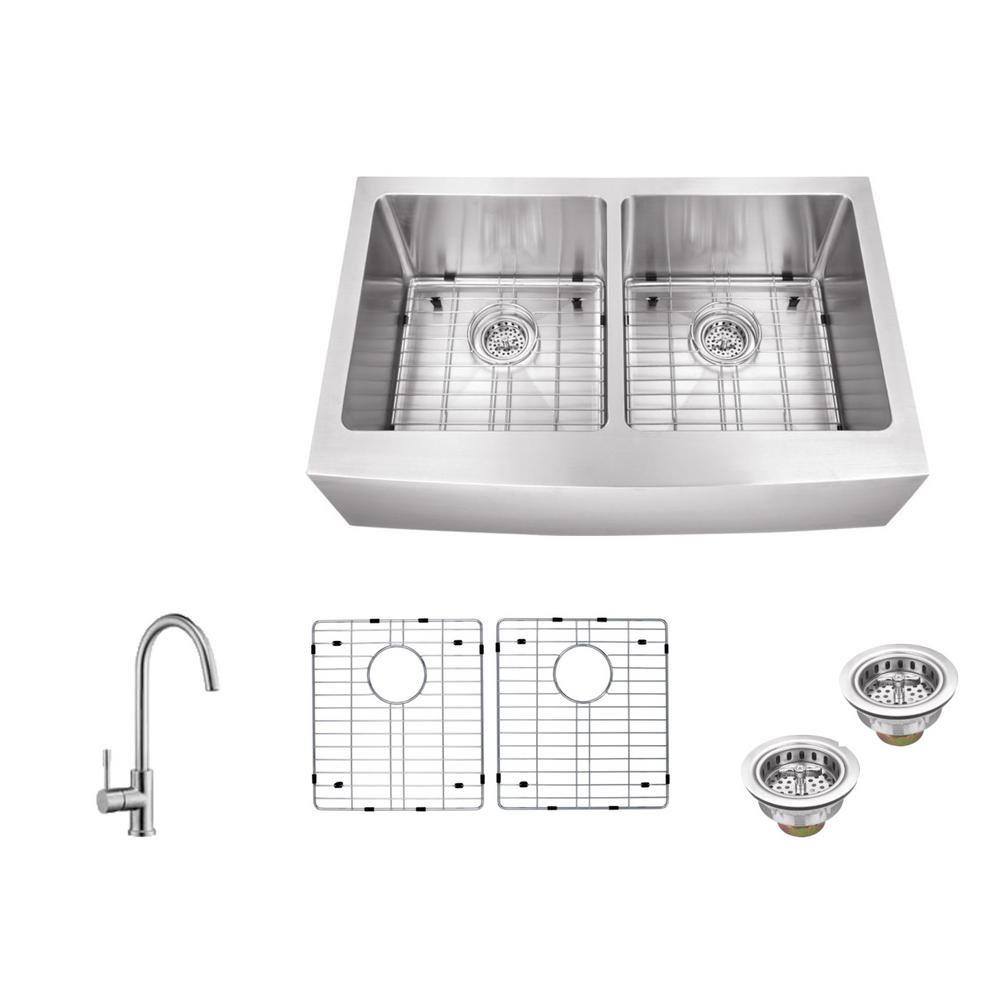 how install kitchen sink schon all in one apron front undermount stainless steel 33 4364