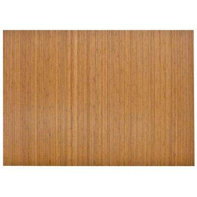 Standard Natural Light Brown 48 In X 72 Bamboo Roll Up Office