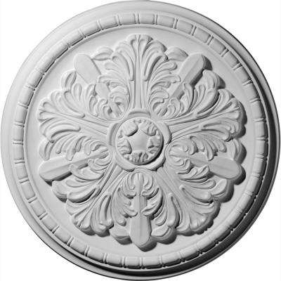 17-1/8 in. OD x 1-1/2 in. P (Fits Canopies up to 2-7/8 in.) Washington Polyurethane Ceiling Medallion