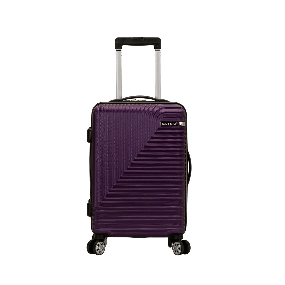 Star Trail 20 in. Purple Hardside Spinner Suitcase