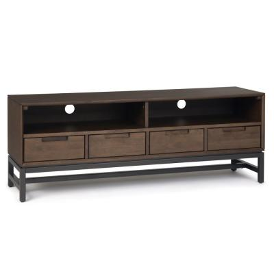 Banting 60 in. Walnut and Brown Wood TV Stand with 4 Drawer Fits TVs Up to 66 in. with Cable Management