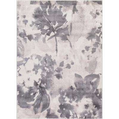 Lara Watercolor Flower Ivory 8 ft. x 11 ft. Area Rug