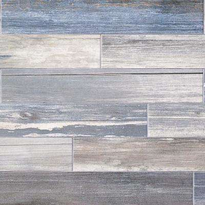 Grove White 4 in. x 24 in. 9.5mm Natural Porcelain Tile (20-piece 12.91 sq. ft. / box)