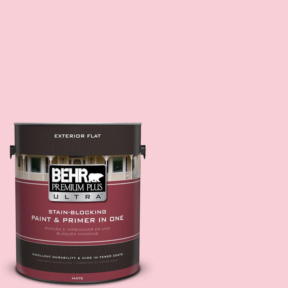 1-gal. #130A-2 Fading Rose Flat Exterior Paint