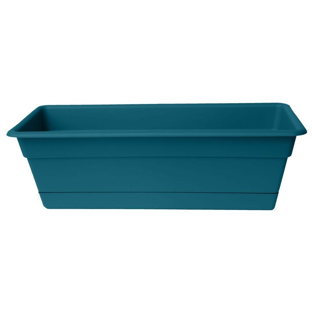Bloem 7.5 in. x 24 in. Dura Cotta Window Box in Turbulent (12-Pack)