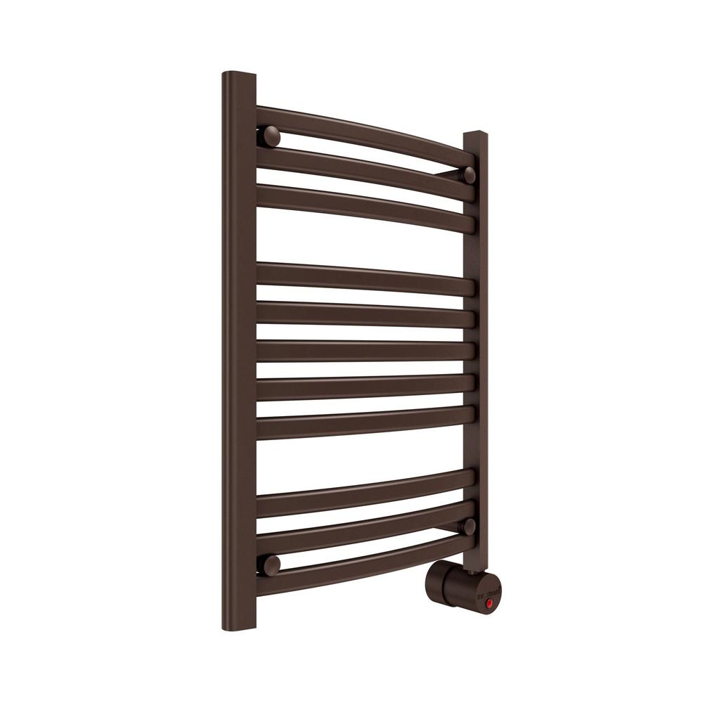 11-Bar Wall Mounted Electric Towel Warmer with Digital Timer in Oil