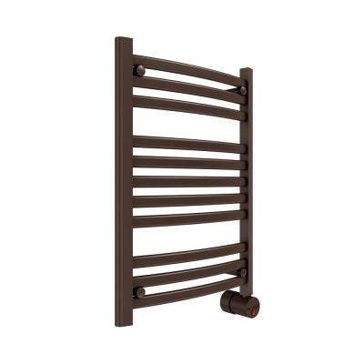 11-Bar Wall Mounted Electric Towel Warmer with Digital Timer in Oil Rubbed Bronze