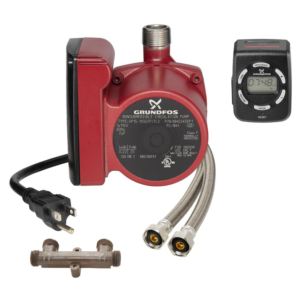Grundfos UP15-10SU7P/LC 3/4 in  NPT 115-Volt Comfort Hot Water  Recirculation Pump