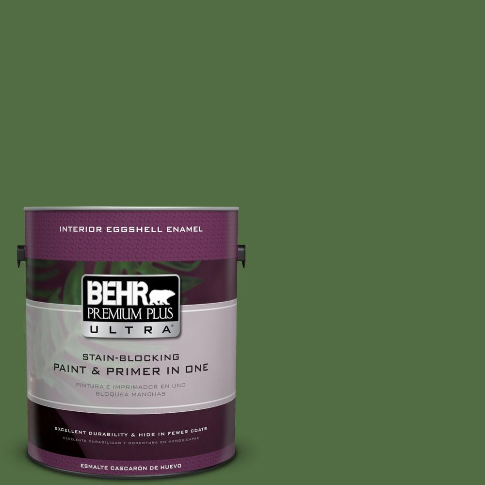 BEHR Premium Plus Ultra 1-gal. #430D-7 Pacific Pine Eggshell Enamel Interior Paint