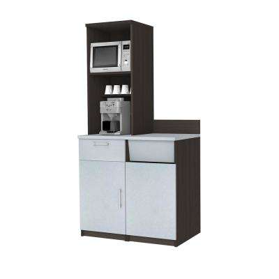 Coffee Kitchen Espresso Sideboard with Practical Lunch Break Room Functionality with Fully Assembled Commercial Grade