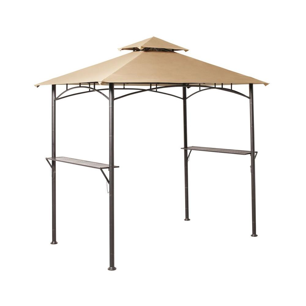 hampton bay 8 ft. x 5 ft. Tiki Grill Gazebo
