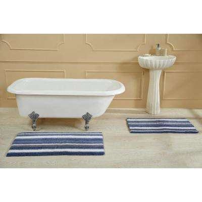 Elixir Blue Multi 24 in. x 40 in. Bath Rug