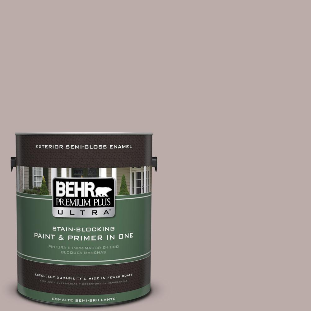1-gal. #730B-4 Winter Cocoa Semi-Gloss Enamel Exterior Paint