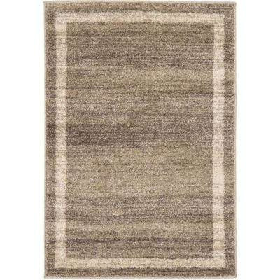 Del Mar Maria Light Brown 2' 2 x 3' 0 Area Rug