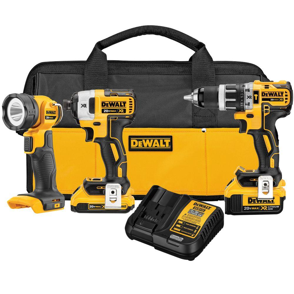 20-Volt MAX XR Lithium-Ion Cordless Combo Kit (3-Tool) with 2Ah and