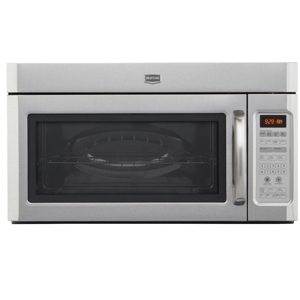 Maytag 2.0 cu. ft. Over the Range Microwave in Stainless Steel with Sensor Cooking-DISCONTINUED