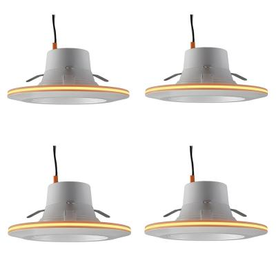 6 in. Selectable Integrated LED Recessed Trim Can Light with Night Light Feature 5 CCT 670 Lumens Dimmable (4 Pack)