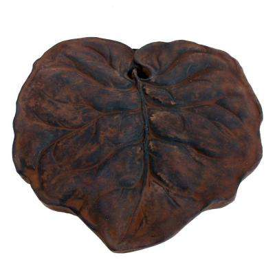 Cast Stone Leaf Stepstone Dark Walnut