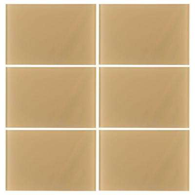 Sandy Trail 8 in. x 12 in. Glass Wall Tile (7.99 sq. ft. / case)