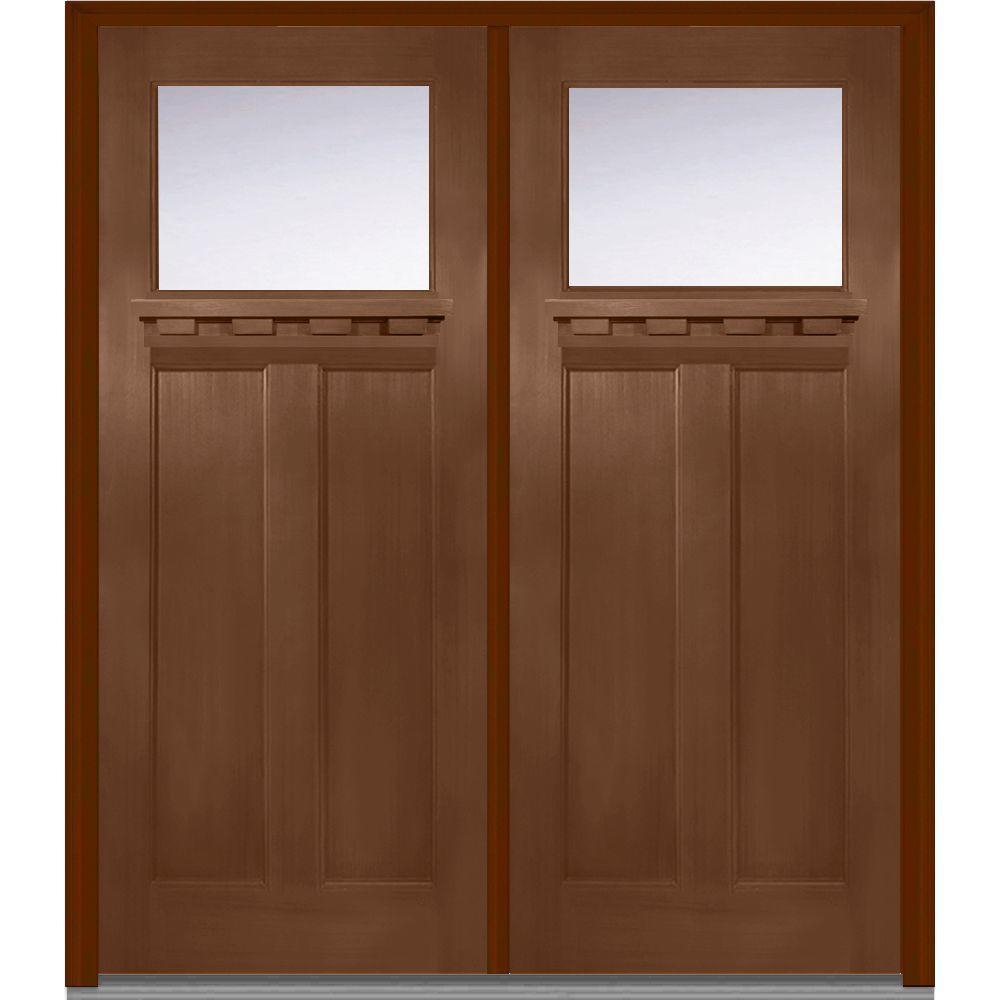 Mmi door 72 in x 80 in shaker right hand inswing 1 lite for 72 x 80 exterior door