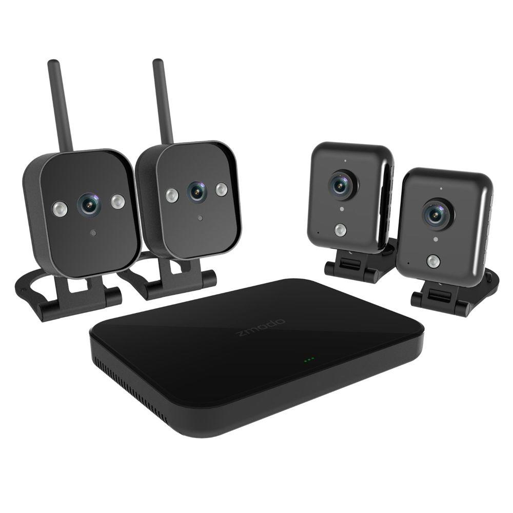 Zmodo 4-Channel 720p 1TB Surveillance NVR System with 2 Indoor and 2 Outdoor Wi-Fi Cameras