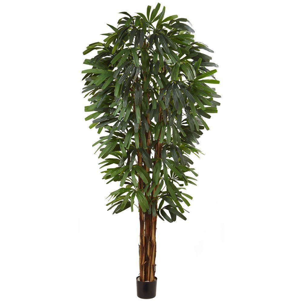 Nearly Natural 84 in. Raphis Silk Palm Tree