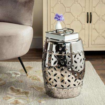 Lattice Coin Silver Garden Patio Stool