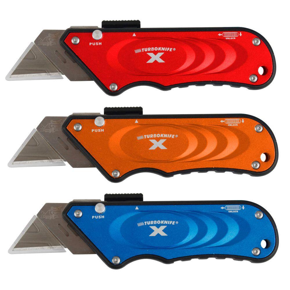 OLYMPIA Turboknife Sliding Utility Knife Set (3-Piece) by OLYMPIA