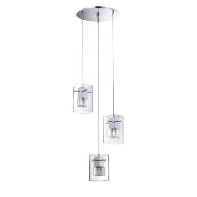 Metro Series 3-Light Chrome Pendant Pan