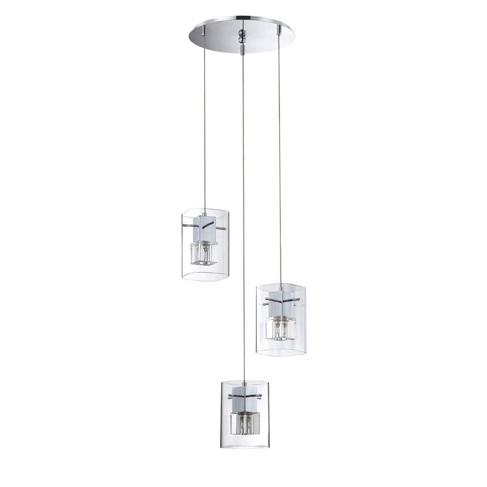 Designers Choice Collection Metro Series 3-Light Chrome P...