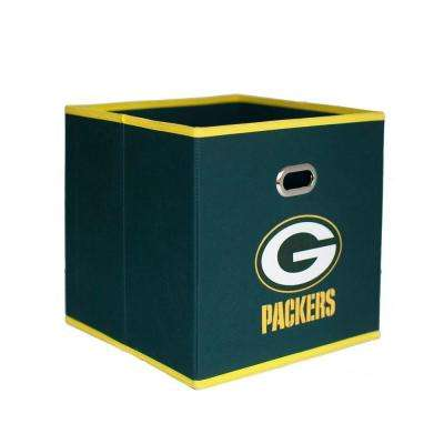 Green Bay Packers NFL Store-Its 10-1/2 in. W x 10-1/2 in. H x 11 in. D Hunter Green Fabric Drawer