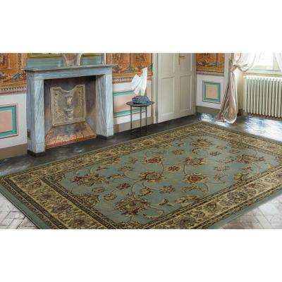 Traditional Oriental Light Blue 8 ft. x 10 ft. Area Rug