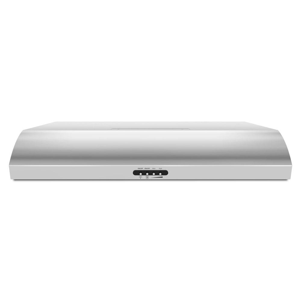Whirlpool Whirlpool 30 in. Range Hood with the FIT System in Stainless Steel, Silver