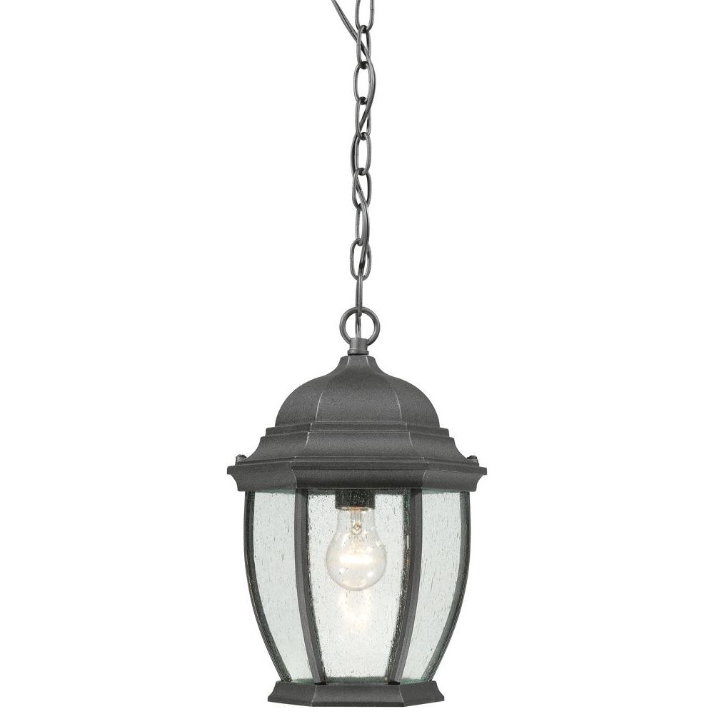 thomas lighting covington 1 light hanging outdoor black lantern