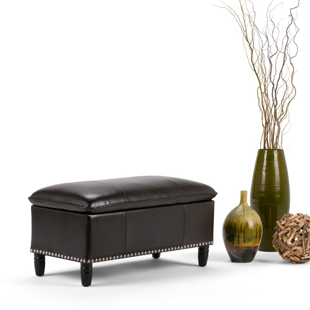 Simply Home Emily Tanners Brown Storage Bench