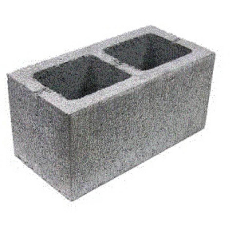 8 in. x 8 in. x 16 in. Double Corner Concrete