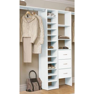 Selectives 11.75 in. W White Organizer for Wood Closet System