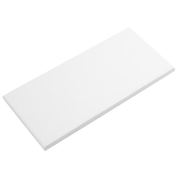 Merola Tile Revival White 3 1 2 In X 7 3 4 In Ceramic Bullnose Floor And Wall Trim Tile Frc8rewb The Home Depot