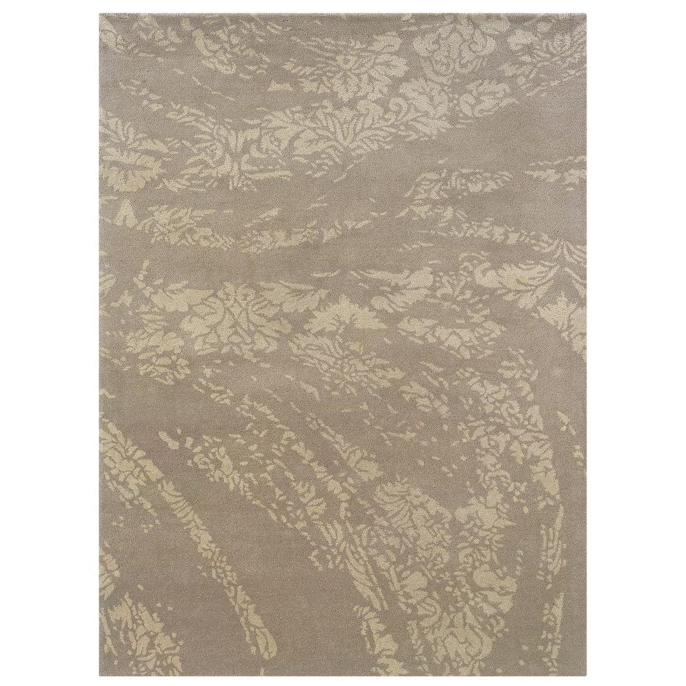 Linon Home Decor Florence Collection Grey and Light Grey 1 ft. 10 in. x 2 ft. 10 in. Indoor Area Rug