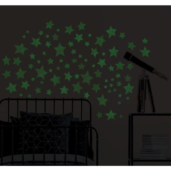 Wallpops Star Struck Glow In The Dark Wall Art Kit Wall Decals Wpk3021 The Home Depot