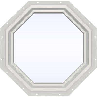 23.5 in. x 23.5 in. V-4500 Series Fixed Octagon Geometric Vinyl Window in White
